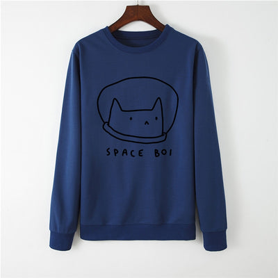 Lovely Space Boy Women's Sweatshirt