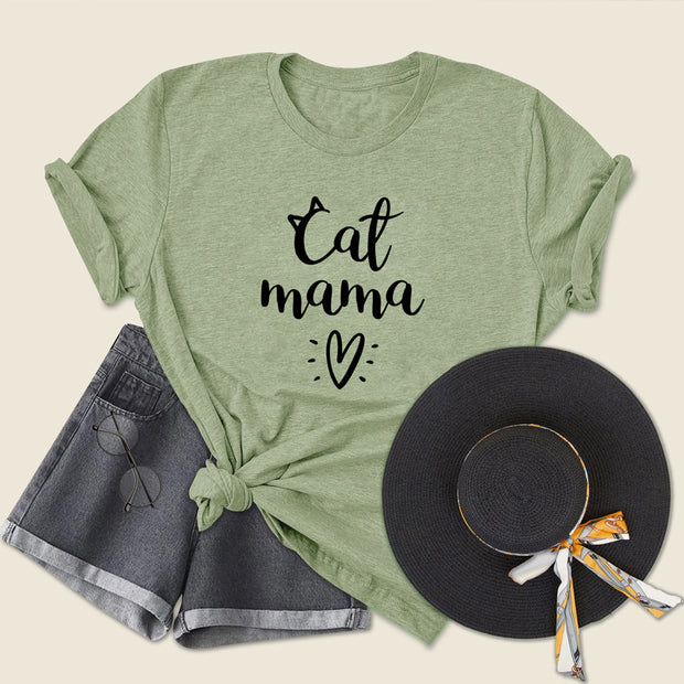 Cat Mama Lovely Women's T-Shirt