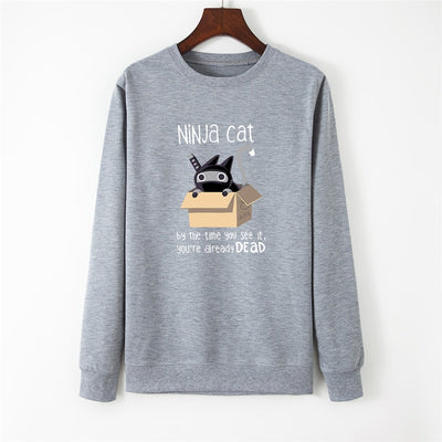 Funny Ninja Cat Women's Sweatshirt