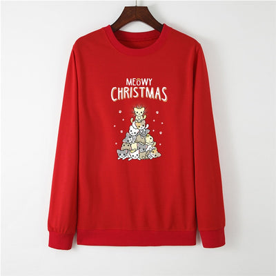 Meowy Christmas Women's Sweatshirt
