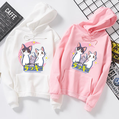 Cute Sailor Moon Lucky Cat Women's Hoodie