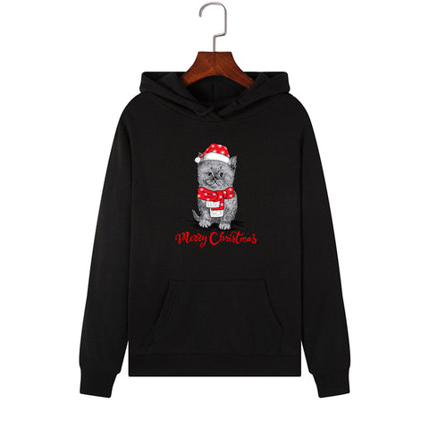 Merry Christmas Santa Cat Women's Hoodie