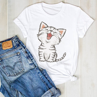 Happy Cat Women's T-Shirt