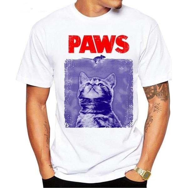 Paws Funny Men's T-Shirt
