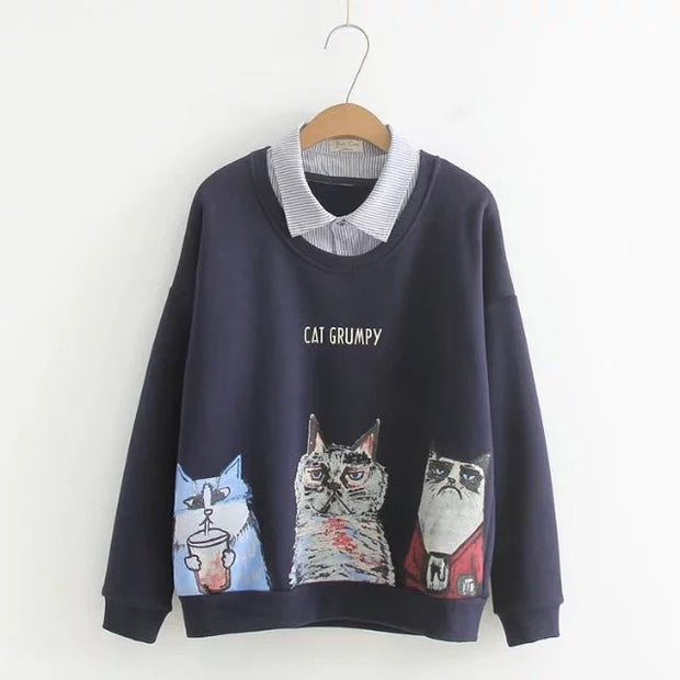 Grumpy Cats Casual Women's Pullover