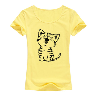 Cute Happy Cat Women's T-Shirt