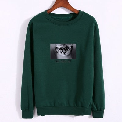 The Lovely Cat Women's Printed Pullover