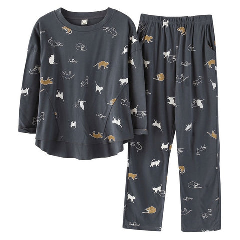Playful Cats Women's 2Pc Pyjamas Set