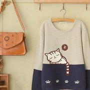 Sleepy Kitten Women's Cute Sweatshirt