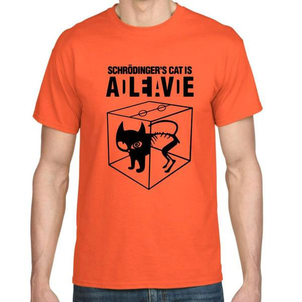 Schrodinger's Cat Is Alive Men's T-shirt