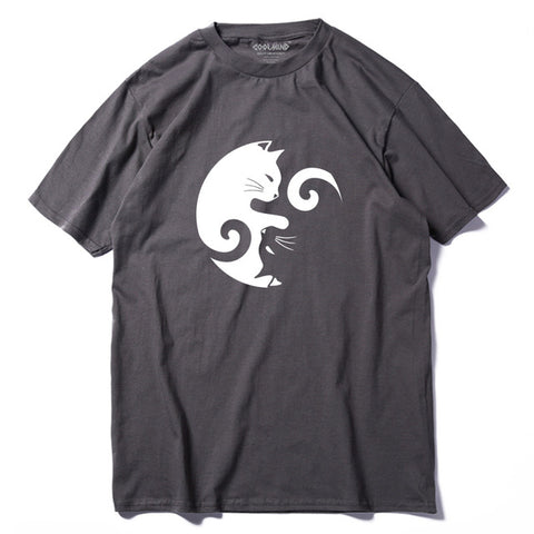 Yin And Yang Cats Men's T-Shirt