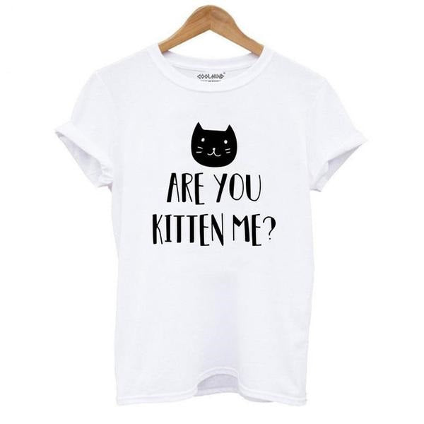 Are You Kitten Me Funny Women's T-shirt