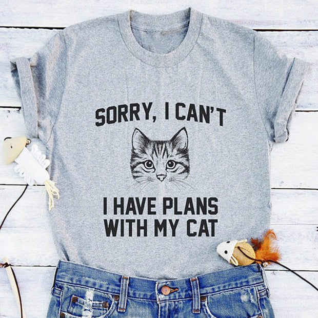 Plans With My Cat Women's T-shirt