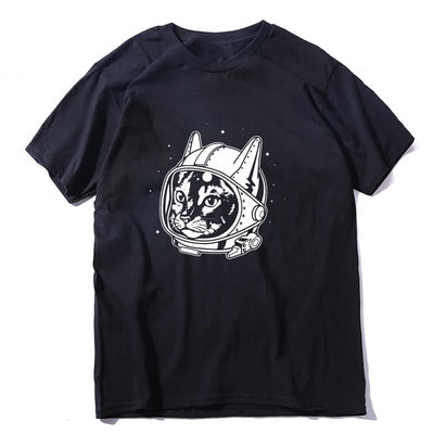 Astronaut Cat Men's T-Shirt