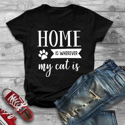 Home Is Wherever My Cat Is Women's T-shirt