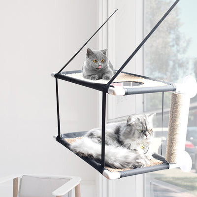 Double Tier Window Mounted Cat Hammock