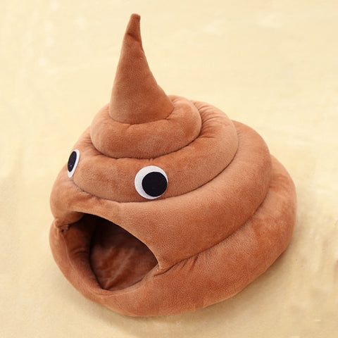 Funny Poop-Shaped Cat Bed