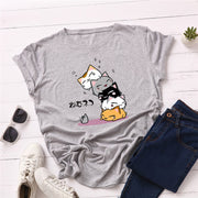 Cartoon Cats Women's Casual T-Shirt