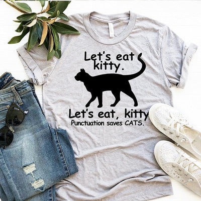Punctuation Saves Cats Funny Women's T-Shirt