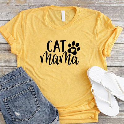 Cat Mama Casual Women's T-shirt