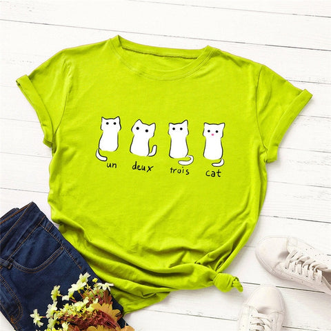 Lovely Four Cats Women's T-shirt