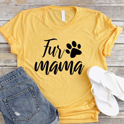 Fur Mama Women's Cat Mom T-Shirt