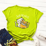 Just Be Nice Funny Cats Women's T-shirt