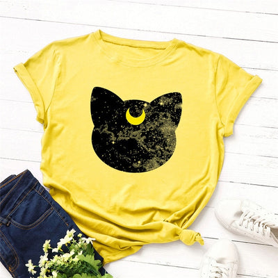 Beautiful Moon Cat Women's T-shirt