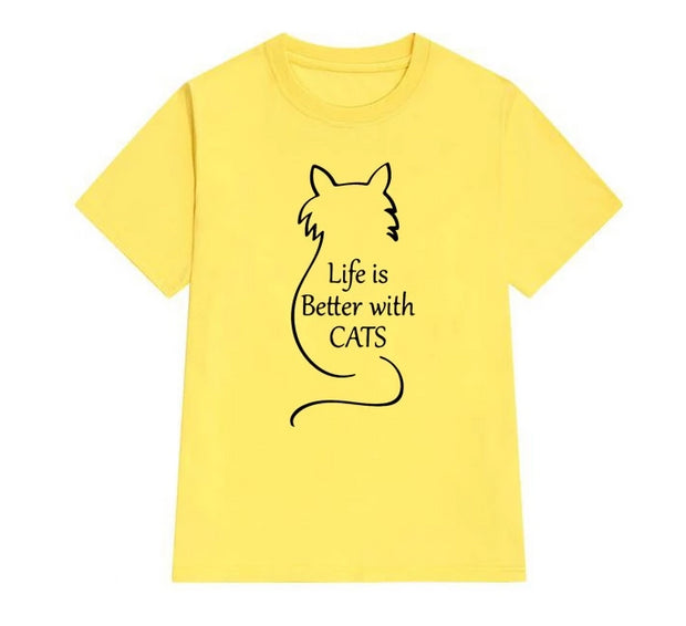 Life Is Better With Cats Women's T-Shirt