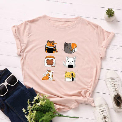 Cat Sushi Cute Women's T-shirt
