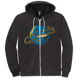 Intergalactic Synth Zip Up Hoodie