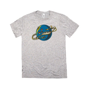 The Galaxy Electric - Cosmic Logo Tee - Light-Year Gray