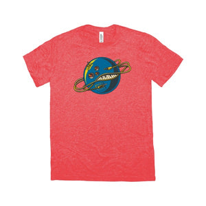 The Galaxy Electric - Cosmic Logo Tee - Atomic Red