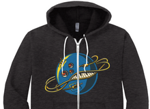 Load image into Gallery viewer, Intergalactic Synth Zip Up Hoodie