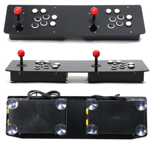Gamepad Arcade Doble Negro