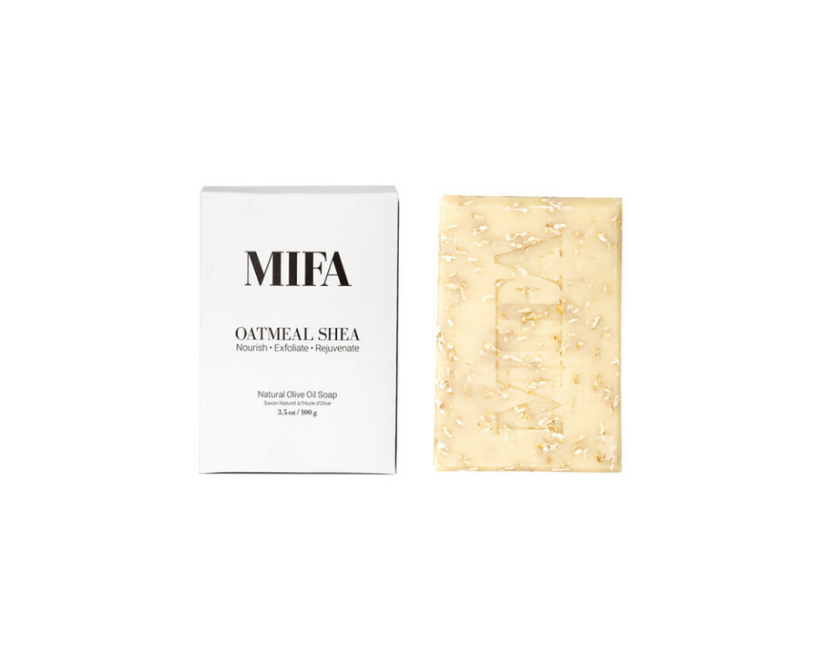 MIFA OATMEAL SHEA Olive Oil Soap Bar Body - Fig Face