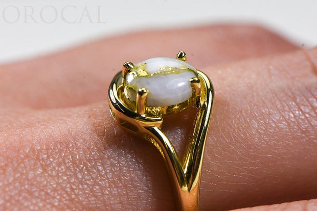 "Gold Quartz Ladies Ring ""Orocal"" RL1135Q  Genuine Hand Crafted Jewelry - 14K Gold Casting"