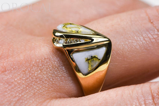 "Gold Quartz Ladies Ring ""Orocal"" RL536D10Q Genuine Hand Crafted Jewelry - 14K Gold Casting"