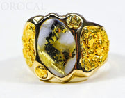 "Gold Quartz Ring ""Orocal"" RM654XLQ Genuine Hand Crafted Jewelry - 14K Gold Casting"