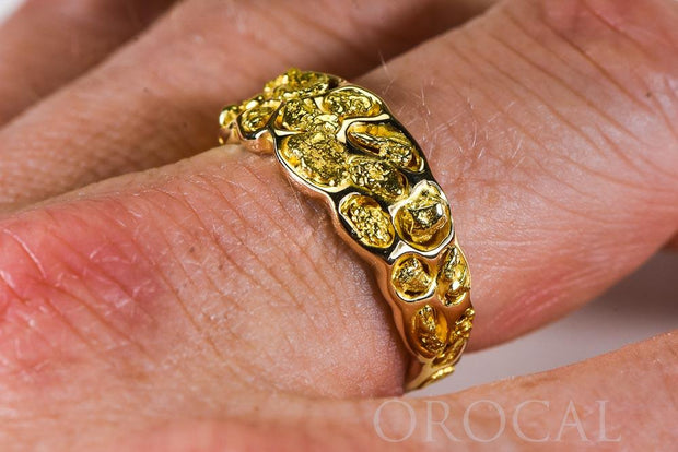 "Gold Nugget Men's Ring ""Orocal"" RM210 Genuine Hand Crafted Jewelry - 14K Casting"