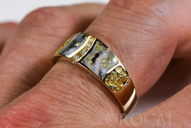 "Gold Quartz Ring ""Orocal"" RMDL58SD9NQ Genuine Hand Crafted Jewelry - 14K Gold Casting"