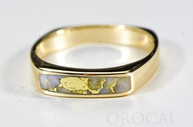 "Gold Quartz Ring ""Orocal"" RM902Q Genuine Hand Crafted Jewelry - 14K Gold Casting"