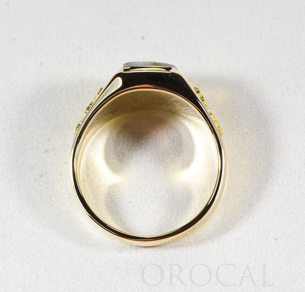 "Gold Quartz Ring ""Orocal"" RM674Q Genuine Hand Crafted Jewelry - 14K Gold Casting"