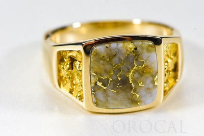 "Gold Quartz Ring ""Orocal"" RM747Q Genuine Hand Crafted Jewelry - 14K Gold Casting"