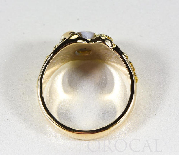 "Gold Quartz Ring ""Orocal"" RM486Q Genuine Hand Crafted Jewelry - 14K Gold Casting"