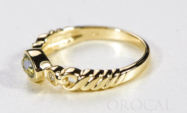 "Gold Quartz Ladies Ring ""Orocal"" RL691D5Q Genuine Hand Crafted Jewelry - 14K Gold Casting"