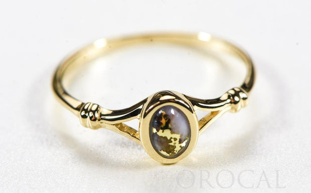 "Gold Quartz Ladies Ring ""Orocal"" RL725Q Genuine Hand Crafted Jewelry - 14K Gold Casting"
