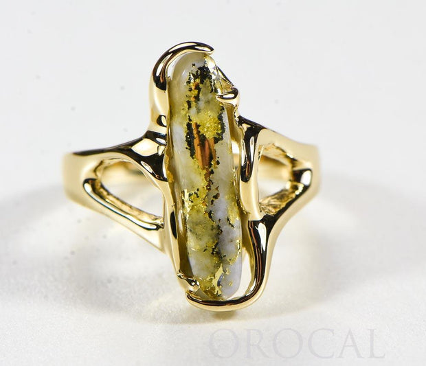 "Gold Quartz Ladies Ring ""Orocal"" RL999Q Genuine Hand Crafted Jewelry - 14K Gold Casting"