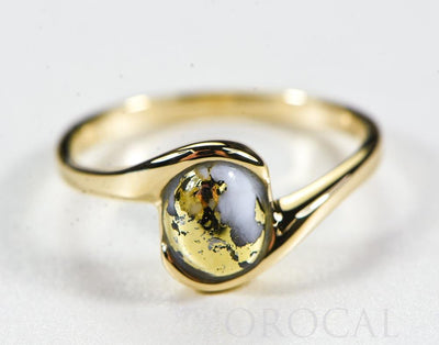 "Gold Quartz Ladies Ring ""Orocal"" RL649Q Genuine Hand Crafted Jewelry - 14K Gold Casting"