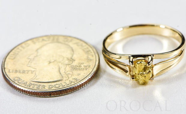 "Gold Nugget Ladies Ring ""Orocal"" RL787N Genuine Hand Crafted Jewelry - 14K Casting"